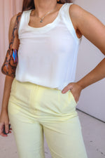 VintageButton Detail Top in Cream - Dirty Disco
