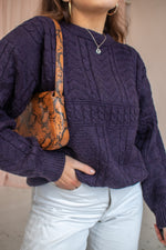 VintageOversized Jumper in Purple - L - Dirty Disco