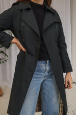 VintageTrench Coat in Black - Dirty Disco