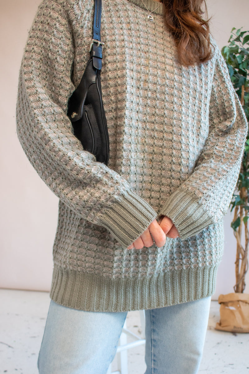 VintageJumper in Sage Green - L - Dirty Disco