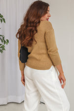 VintageKnitted Jumper in Camel - Dirty Disco
