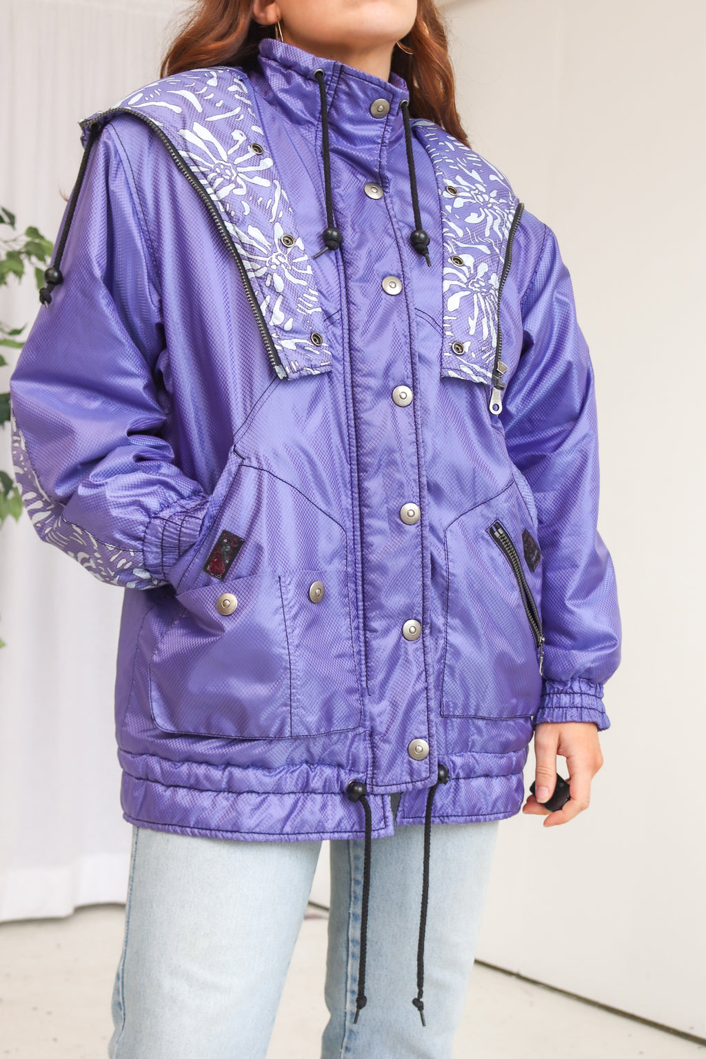 VintagePadded Coat in Purple - Dirty Disco