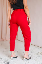 Straight Leg Trousers in Red - UK 10