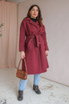Wool Coat in Magenta