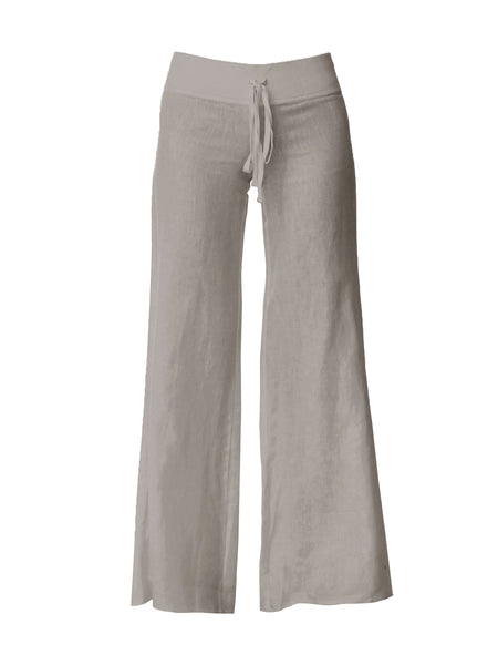 Wide Leg Pant with Finished Hem