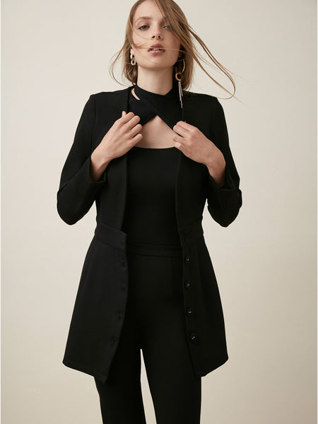 Deep V Blazer  Dress