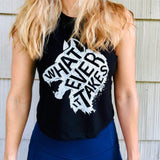 Whatever It Takes Ladies Cropped Racerback