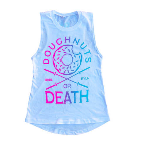 Doughnuts or Death Ladies Muscle Tank - Special Edition