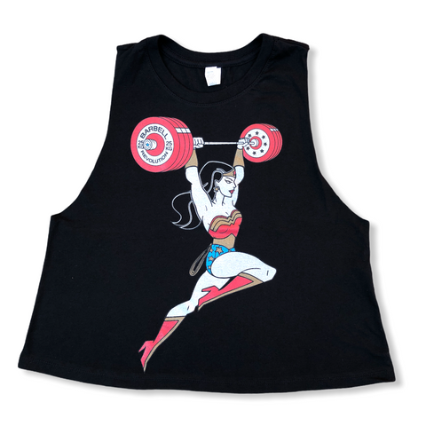 Weightlifting Woman Ladies Crop
