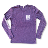 Color Wave Unisex Triblend Long Sleeve - Purple