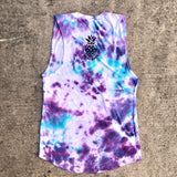 Vibe Tie Dye Ladies Muscle Tank
