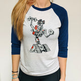 Johnny5 Triblend Unisex Raglan Tee