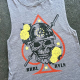 Death Dealer Ladies Grey Muscle Tank