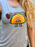 Taco Gains Ladies Muscle Tank