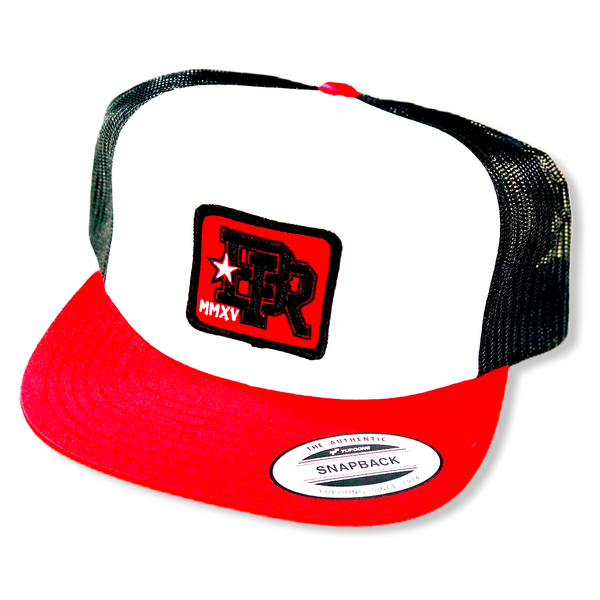 Red Patch Trucker Snapback