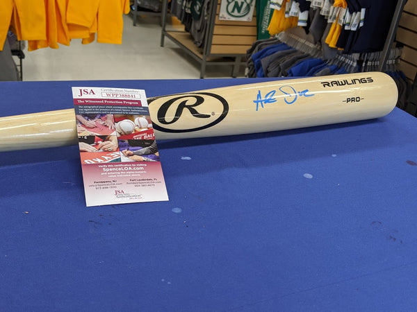 Kansas City Royals Hunter Dozier Signed Autographed Blonde Bat JSA