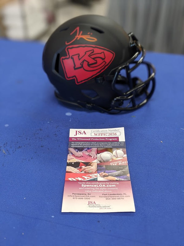 Kansas City Chiefs Tyreek Hill Signed ECLIPSE Speed Mini Helmet JSA