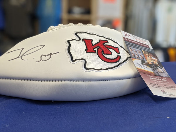 Kansas City Chiefs Frank Clark Signed Autographed Football JSA