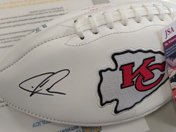 Kansas City Chiefs Chris Jones Signed White Panel Football JSA