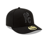Kansas City Royals Black 59FIFTY Low Profile Hat by New Era