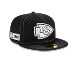 Kansas City Chiefs 2019 On Field Black 59FIFTY Fitted Hat by New Era