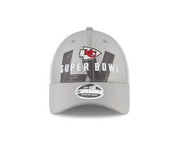 Kansas City Chiefs 2021 Gray/White Super Bowl LV Participation Adjustable 9FORTY Hat by New Era