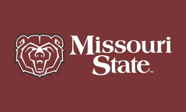 "Missouri State Bears 3""x5"" Bear Head W/ white Letters Sleeve Flag"