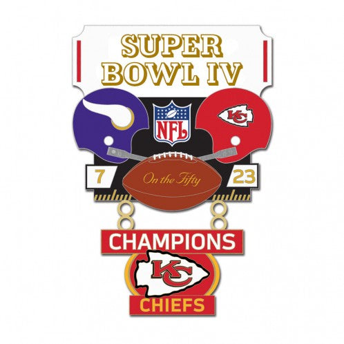 Kansas City Chiefs SB IV Lapel Pin