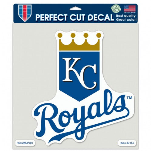 "Kansas City Royals ""Crown KC Royals"" Perfect Cut Color Decal 8"" x 8"" by Wincraft"