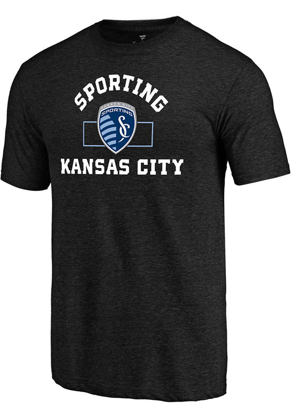 Sporting Kansas City Mens Black Building Strategy Short Sleeve T-Shirt