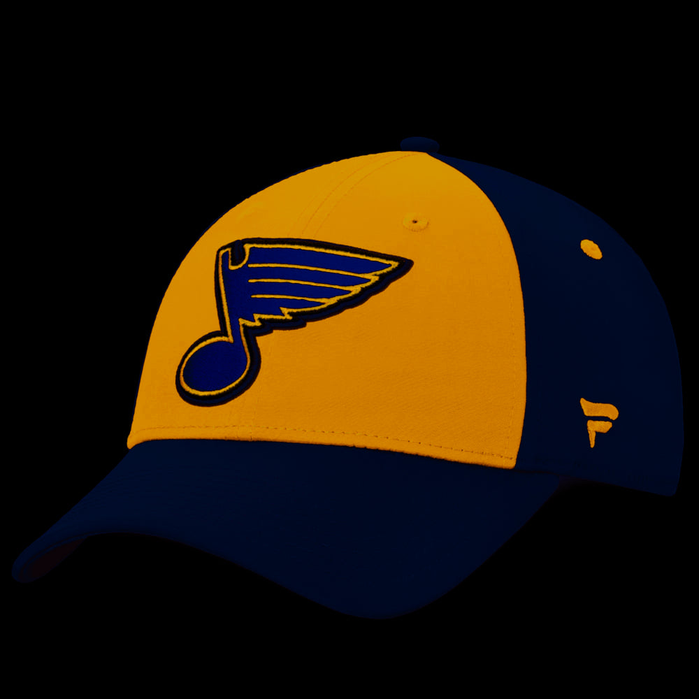 St Louis Blues Navy Blue Iconic 2T Flex Hat by Fanatics