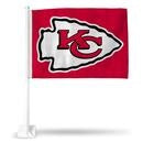 Kansas City Chiefs Red Car Flag by Rico