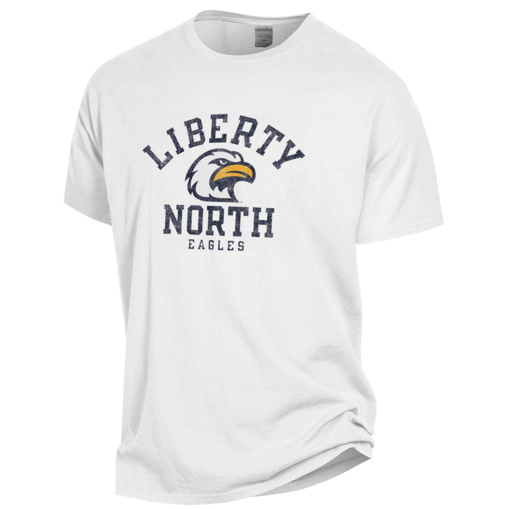 Liberty North Eagles Comfort Wash Logo White Short Sleeve T-Shirt by Gear