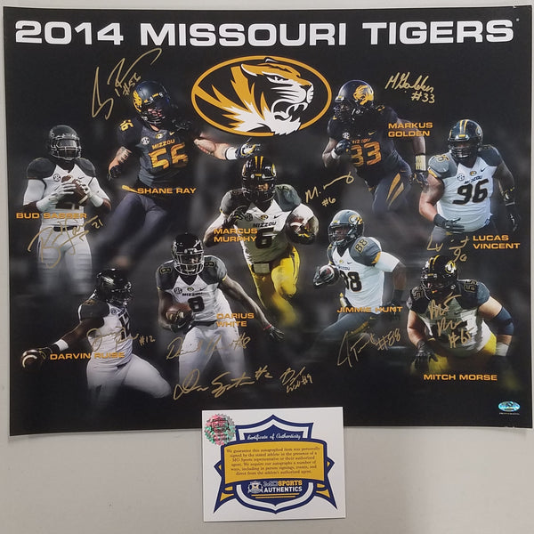 2014 Missouri Tigers Team Signed 16x20 Prints by Pro Graphs