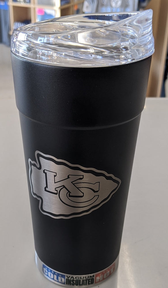 Kansas City Chiefs  24oz Black Stealth Travel Tumbler