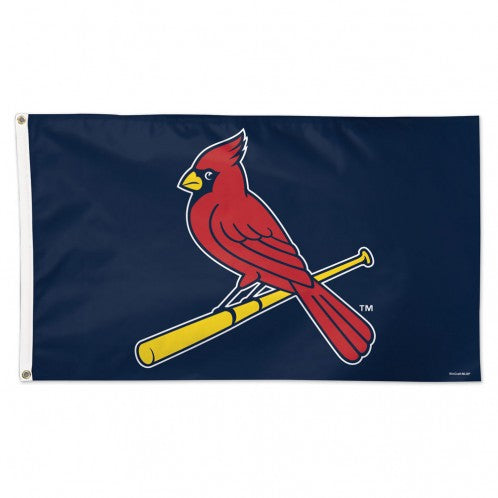 "St. Louis Cardinals ""Cardinal On Bat"" Blue Flag - Deluxe 3' X 5'"