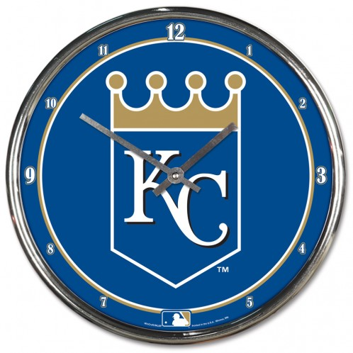 Kansas City Royals Royal Blue Chrome Clock by Wincraft