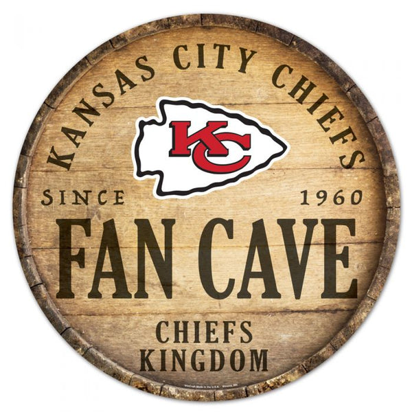 "Kansas City Chiefs Round Wood Sign 14"" by Wincraft"
