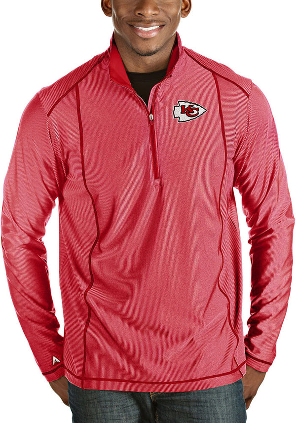 Kansas City Chiefs Men's Red Tempo 1/4 zip by Antigua