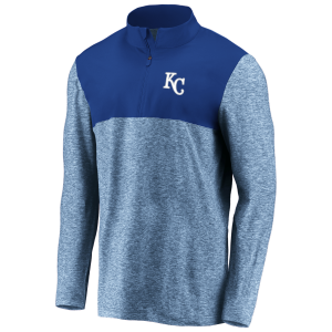 Kansas City Royals Royal Iconic Marble Clutch Half-Zip Jacket by Fanatics
