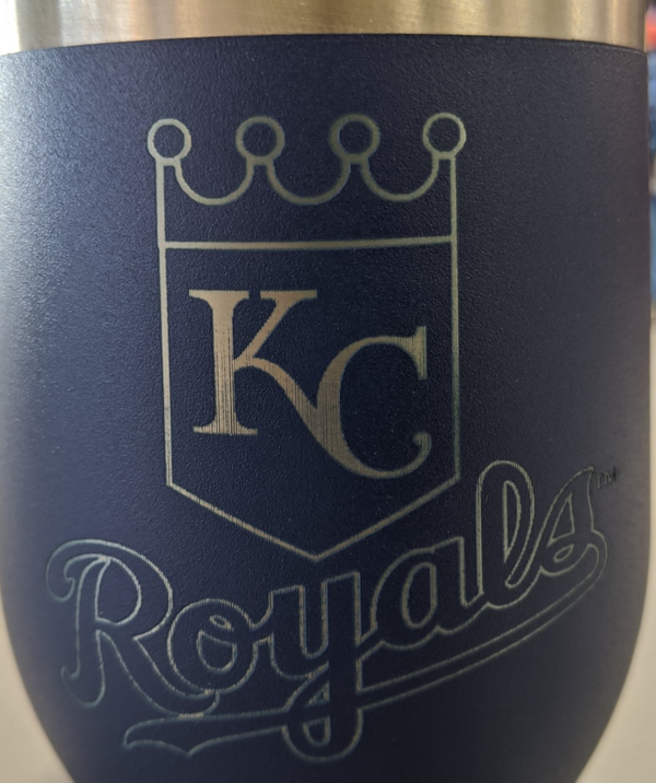 Kansas City Royals Blue w/LOGO Wine Cup and Lid