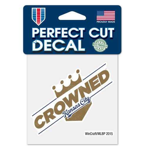"Kansas City Royals ""Crowned"" Perfect Cut Color Decal 4"" x 4"" by Wincraft"