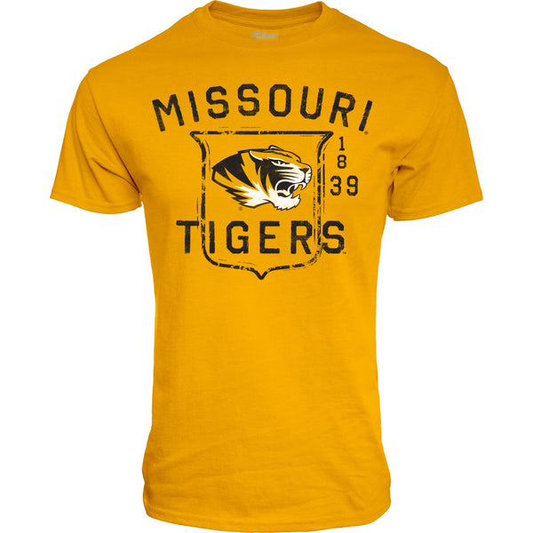 Missouri Tigers Gold Tee Shirt by Blue 84