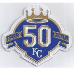 Kansas City Royals 50th Anniversary Patch