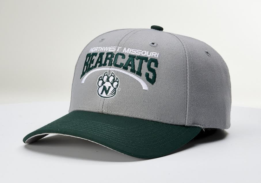 reputable site 93a94 f22a3 Northwest Missouri State Gray Green Pro 514 Adjustable Hat by Richardson