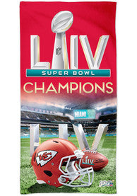 "Super Bowl LIV Tailgate Towel 16""x25"" W/ Grommet and Hook"