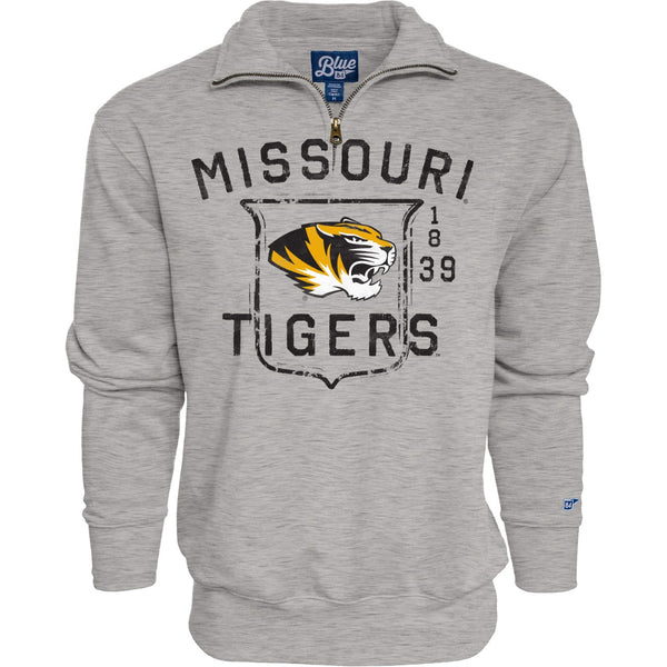 Missouri Tigers 1/4 Zip Gray Sweatshirt by Blue 84