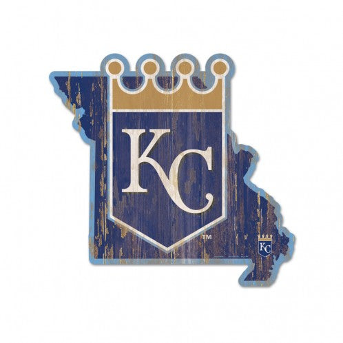 Kansas City Royals Wooden State Sign