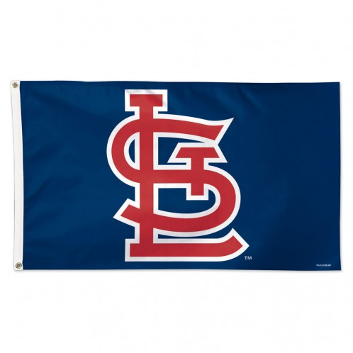 "St. Louis Cardinals ""STL"" Blue Flag - Deluxe 3' X 5'"