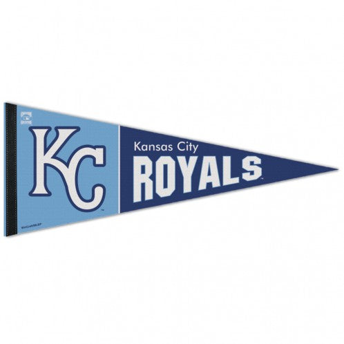 "Kansas City Royals Two Tone Blue Premium Pennant 12"" x 30"" by Wincraft"